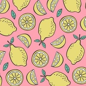 Lemon Citrus on Pink