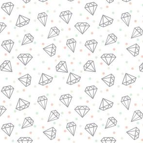 limited palette wedding diamond confetti