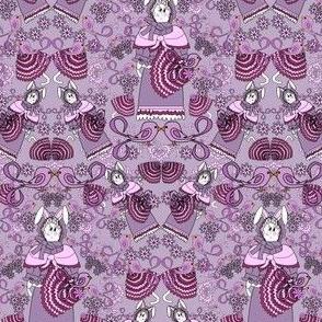 Laura The Quintessential Lady Bunny Umbrellas, Flowers & Birds Victorian Fabric #2