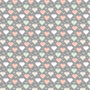 Wedding Pixel Hearts