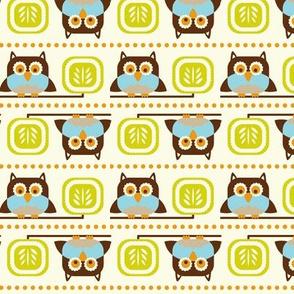 Owl Town - Whimsical Birds Cream