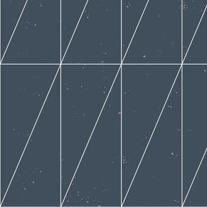 Navy Blue Geo Triangles by Friztin.