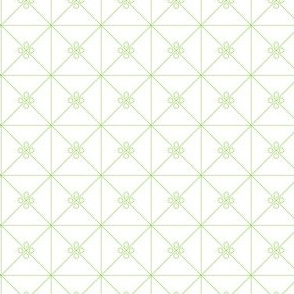 Green Trellis on White_Miss Chiff Designs