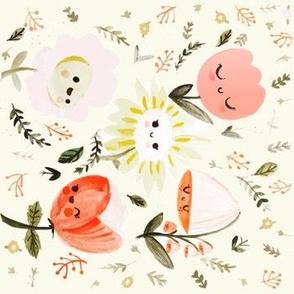 Happy Flower- Vertical