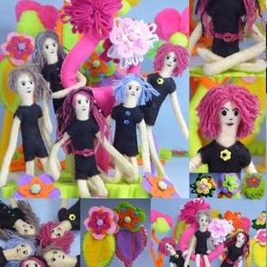 Mini Felt Doll Playground