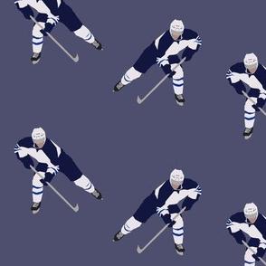 Dark Blue Hockey