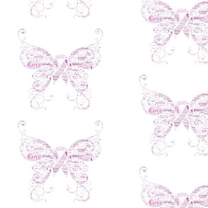 Ribbon (Cancer) butterfly