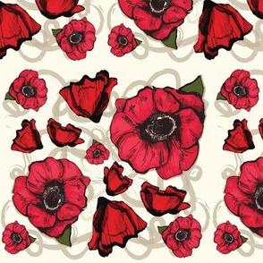 Damask Poppy Illustration