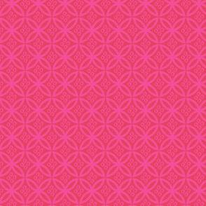 Pink Kimono Garden Pattern