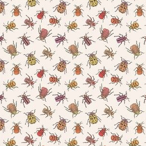 Pretty Beetles | Peach - Small Scale