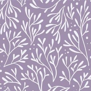 Coral Leaf Dots (Lilac)
