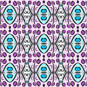 Geometrical Abstract Pink Blue