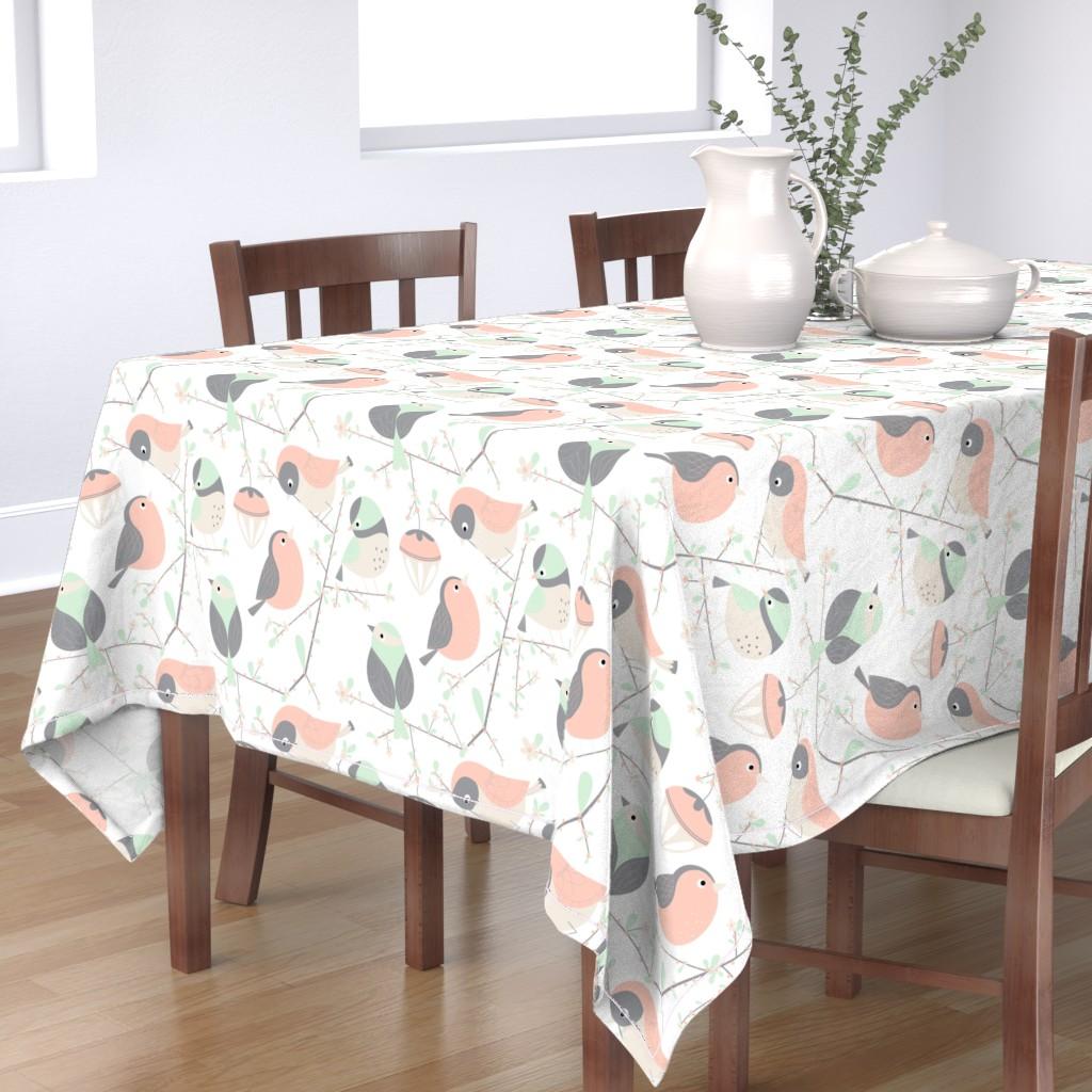 Bantam Rectangular Tablecloth featuring birdy by gnoppoletta
