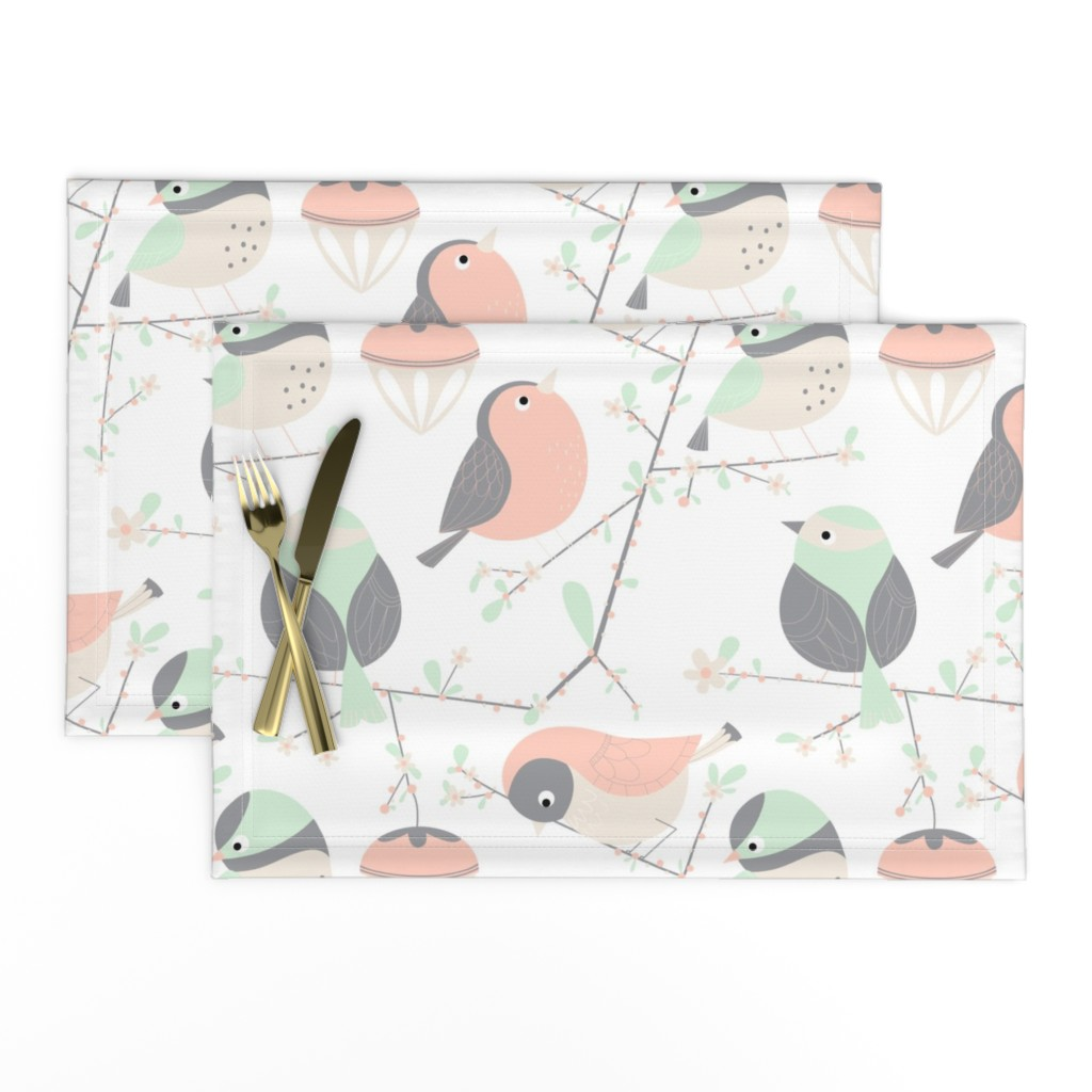 Lamona Cloth Placemats featuring birdy by gnoppoletta