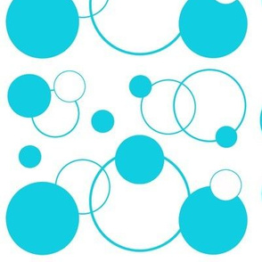 Turquoise Teal Blue Polka Dot Geometric Abstract