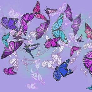Fluttering Butterflies-mauve/purple