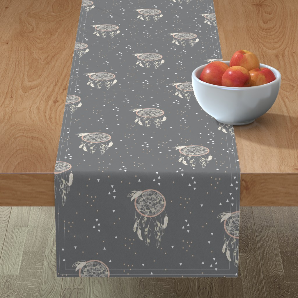 Minorca Table Runner featuring Sweet Dreams by papercanoefabricshop