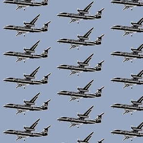 passenger plane - smallest - denim