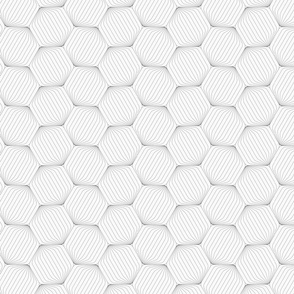Gray striped rounded hexagons