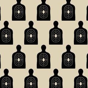 Black Silhouette | Target Shooting | Bulls Eye