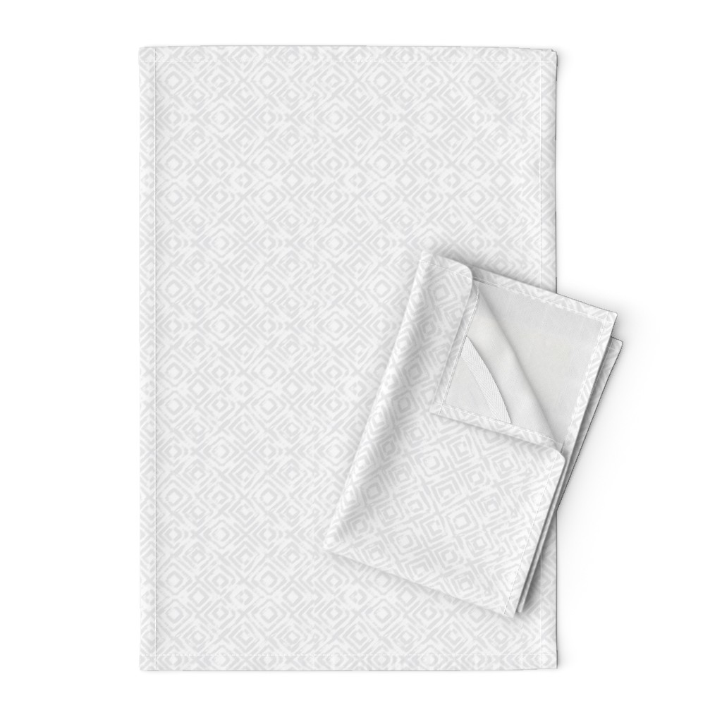 Orpington Tea Towels featuring Watercolor Brush Diamond by laurapol
