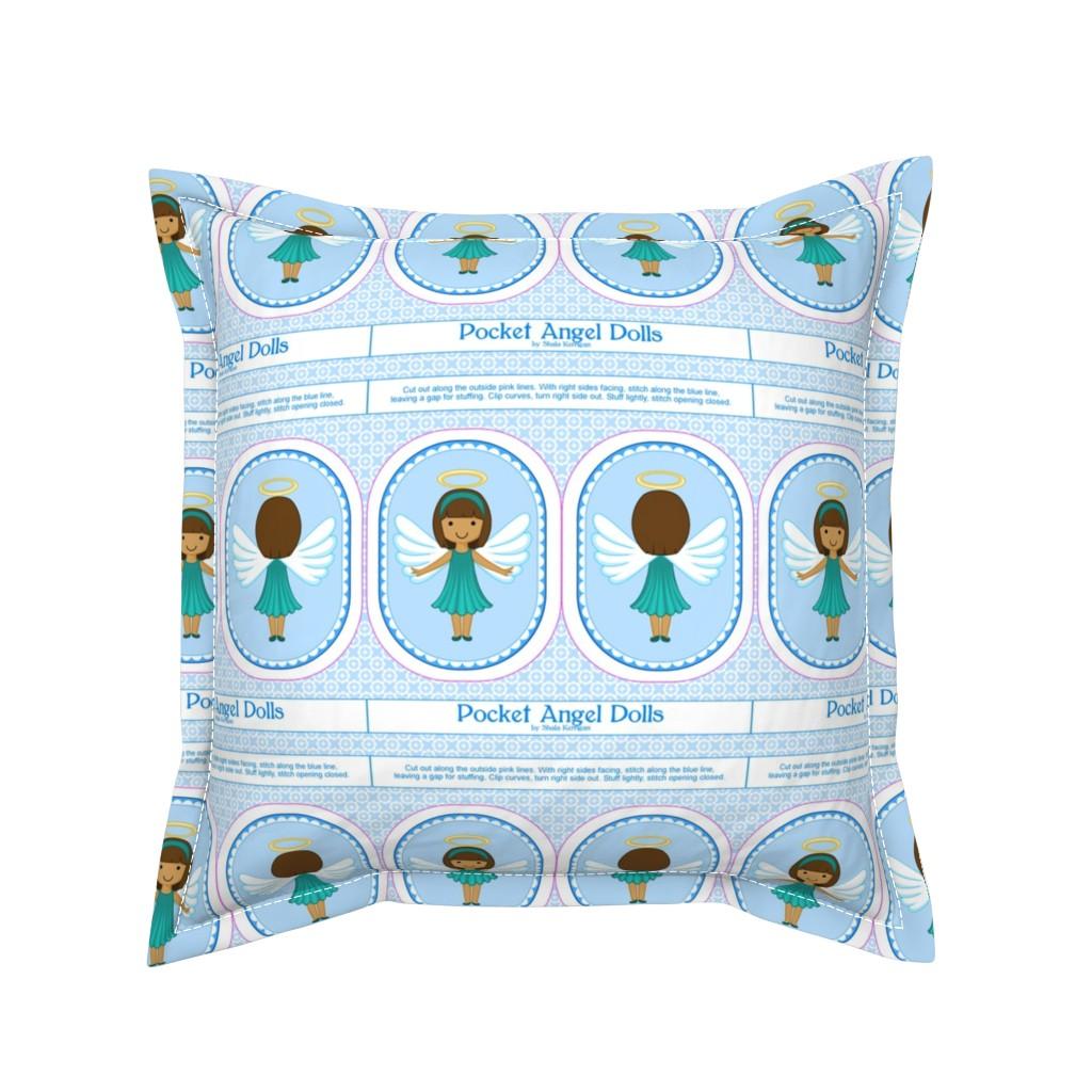 Serama Throw Pillow featuring Pocket Angel 30 by shala