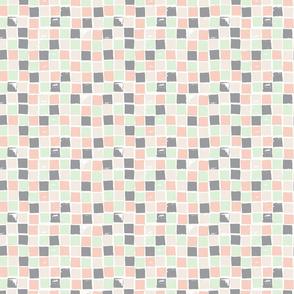 Pastel & Gray Squares