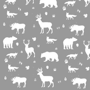 woodland animals // grey