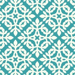 RICH TURQUOISE & CREAM mini-papercut2