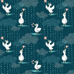Ducks Love Rain - Dark Teal