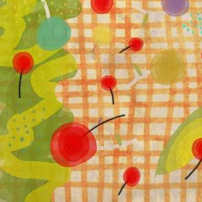 A 8 Marzo 2011 -Avodado cherry fabric