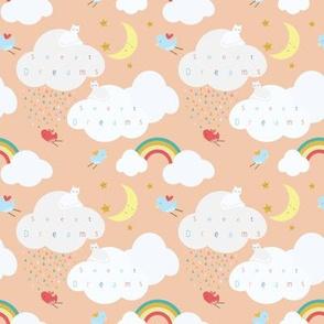 Clouds, peachy