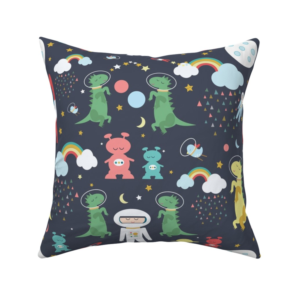 Catalan Throw Pillow featuring Space, black by michellegracedesign