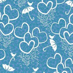 cloudbursts of love blue