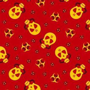 Gas Mask Biohazard Red Yellow
