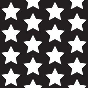 White star on black