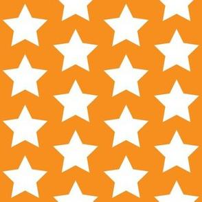 white stars on orange