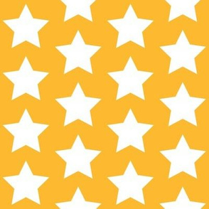 white stars on yellow gold
