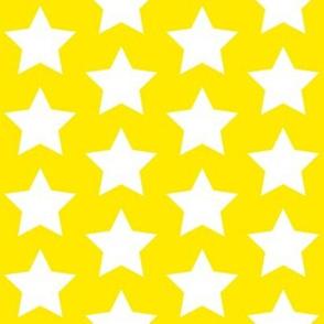 white stars on yellow