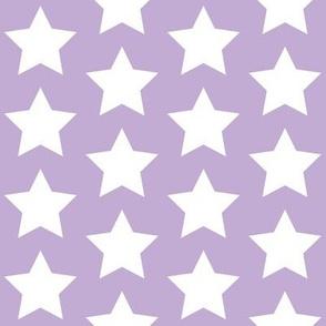 whites stars on lilac