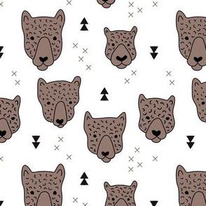 Geometric safari leopard cute woodland animals forest fall