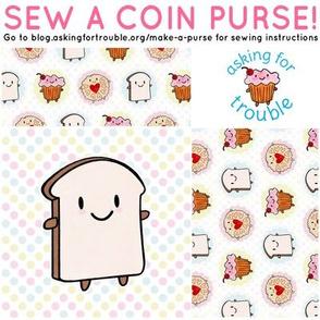 Bread Slice Coin Purse - Cut & Sew Pattern