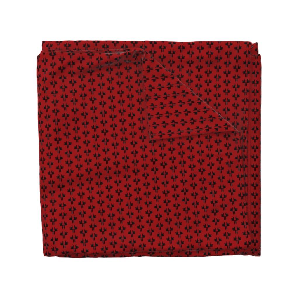 Wyandotte Duvet Cover featuring Tattoo Gun in red by melinda_wolf_designs