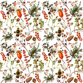 vintage botanical winter -tiny