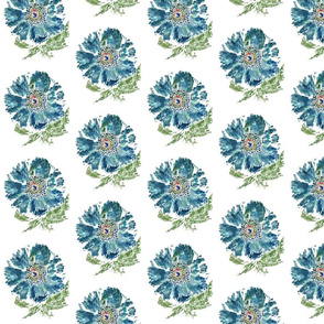 Turquoise Painted Flower