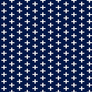 Navy Plus Sign Chunky
