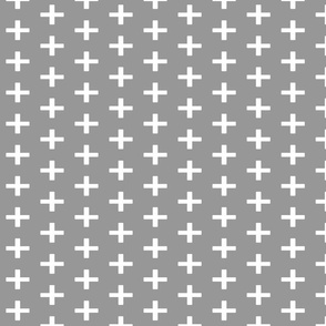 Gray Swiss Cross Chunky