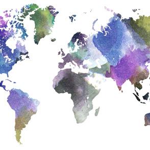 """Watercolor World (56""""W) // Vibrant"""