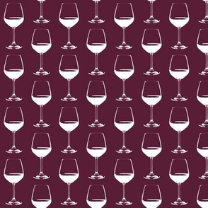 "Wine Glass on Cabernet - Small (2"")"
