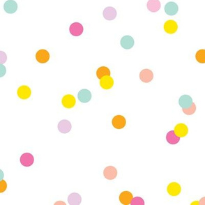 Colorful confetti celebration party festive memphis style design LARGE